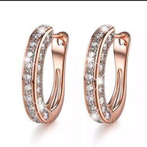 18k Rose Gold Cubic Zirconia Earrings